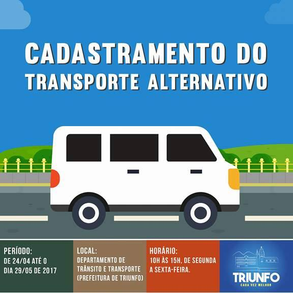 Cadastramento do Transporte Alternativo