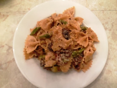 Farfelle With Asparagus, Morel and Chanterelle Mushrooms And Goat Cheese