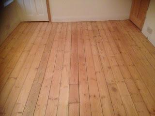 Sanded pine floor