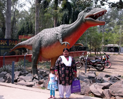 Pranitaa with her mother at Digha Science Center
