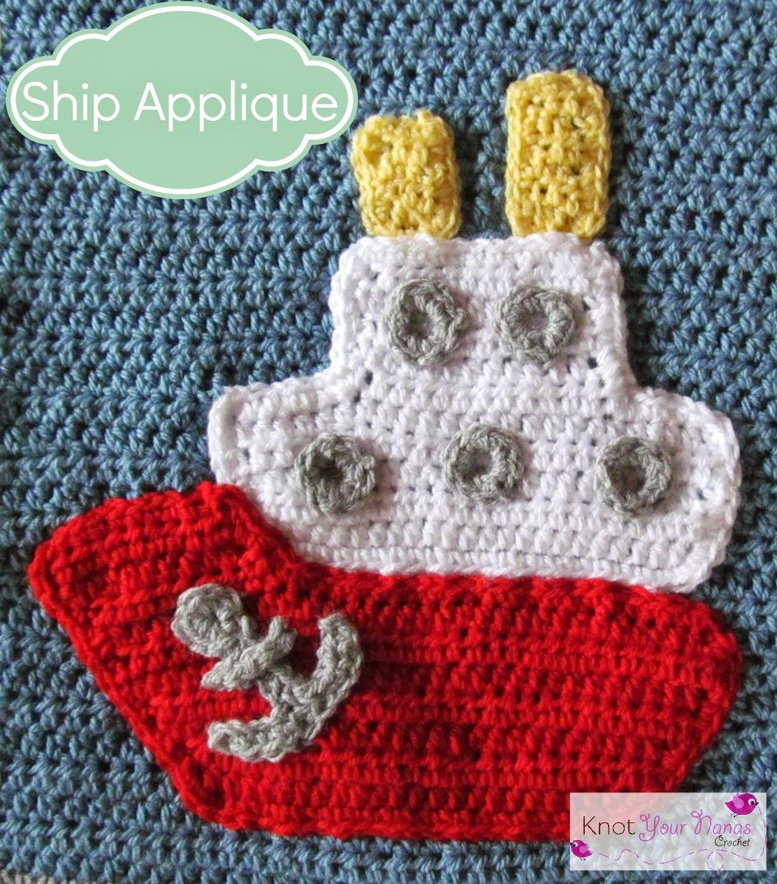 Crochet-Ship-Applique