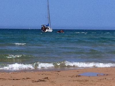 oliva+playa+barco Ein Sonntag bei OLI BA BA am Strand von Oliva nördlich der Costa Blanca