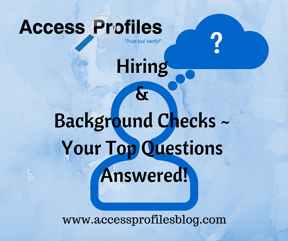 background checks in hiring Go beyond the interview and achieve your hiring goals with personalized background checks prevention is everyone's responsibility.