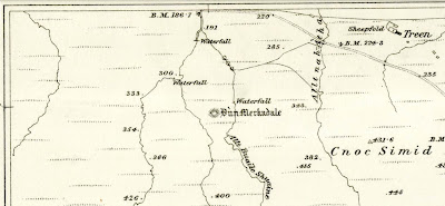 Ordnance Survey Map of Dun Merkadale