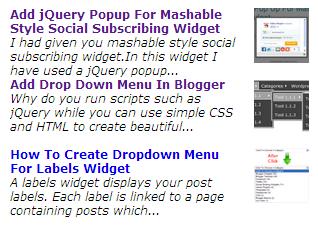 Cara Membuat Recent Posts Otomatis With Thumbnail