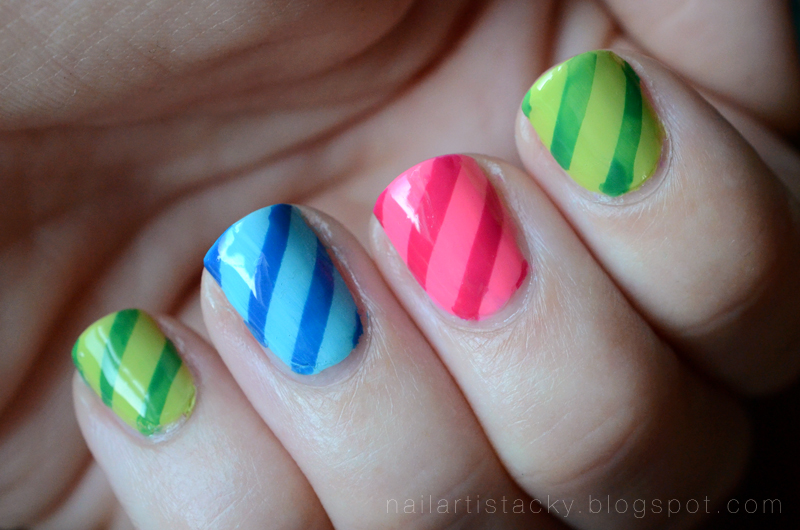Candy Stripe Nails