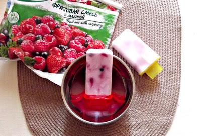 Îngheţată de iaurt şi fructe