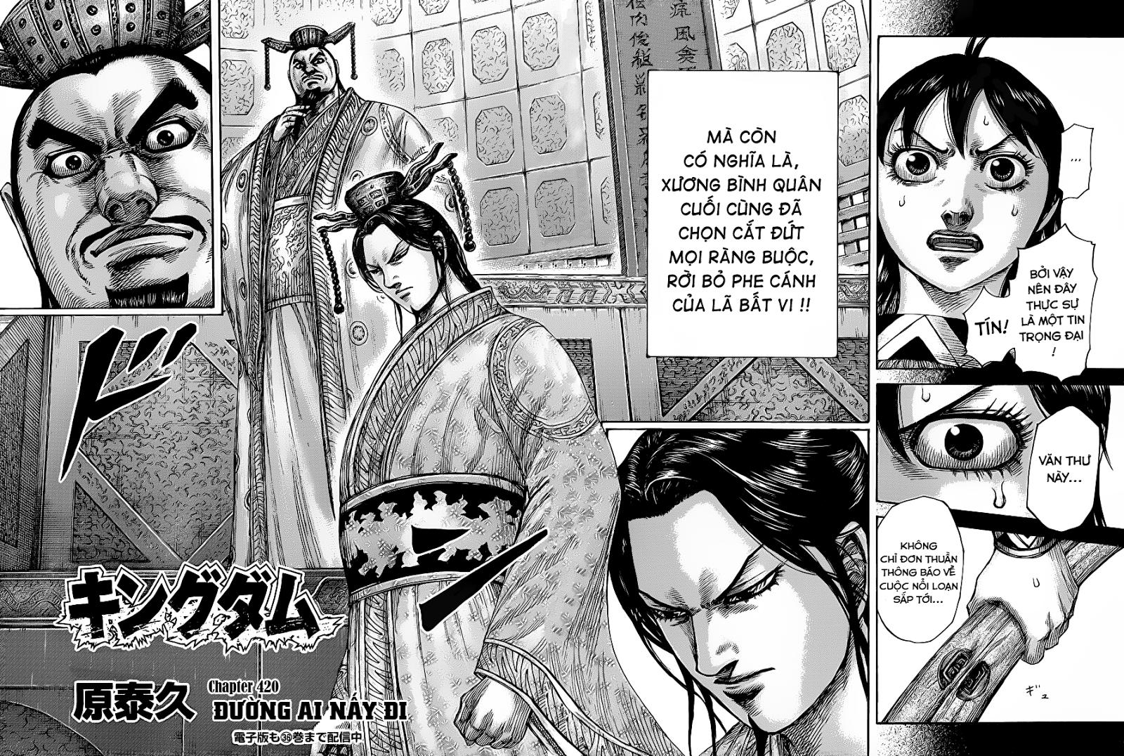 Kingdom - Vương Giả Thiên Hạ Chapter 420 - 422 page 5 - IZTruyenTranh.com