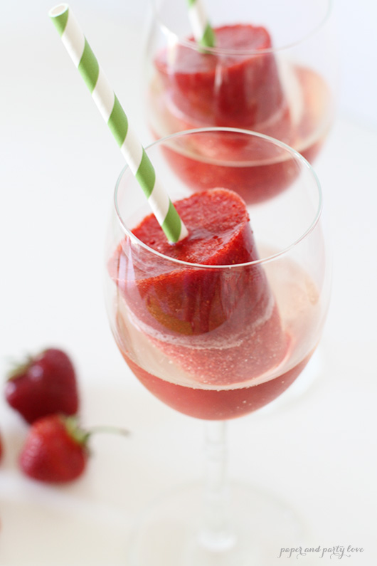 Strawberry Popsicles and Prosecco