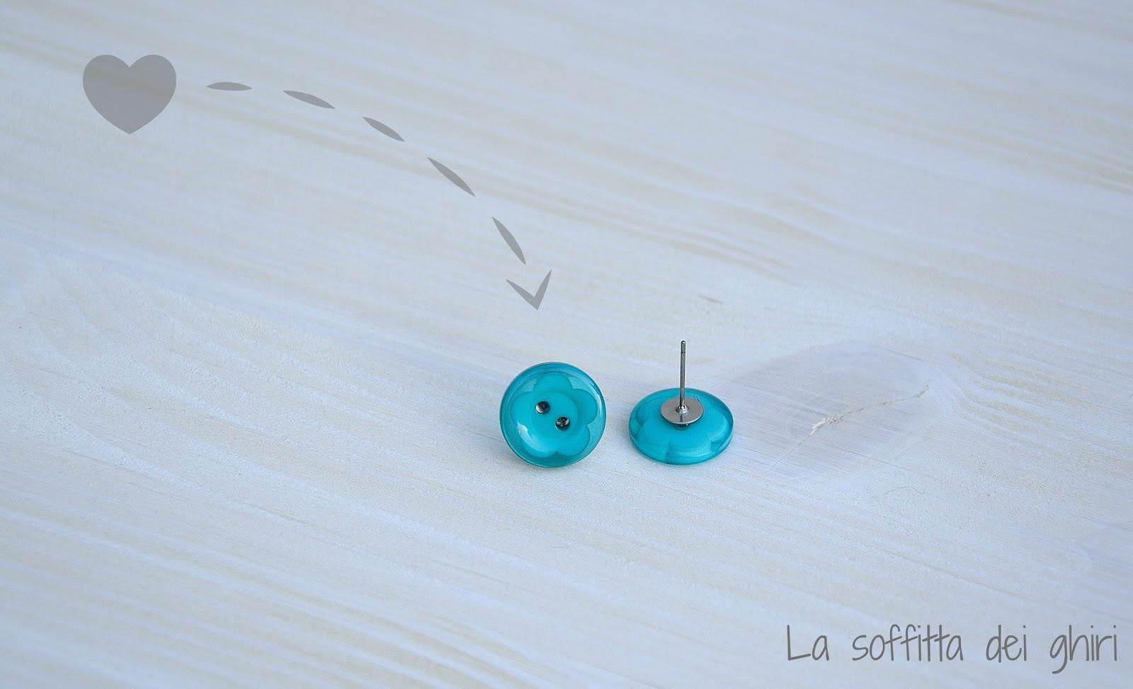 spesso La soffitta dei ghiri: DIY Orecchini-bottone BK68