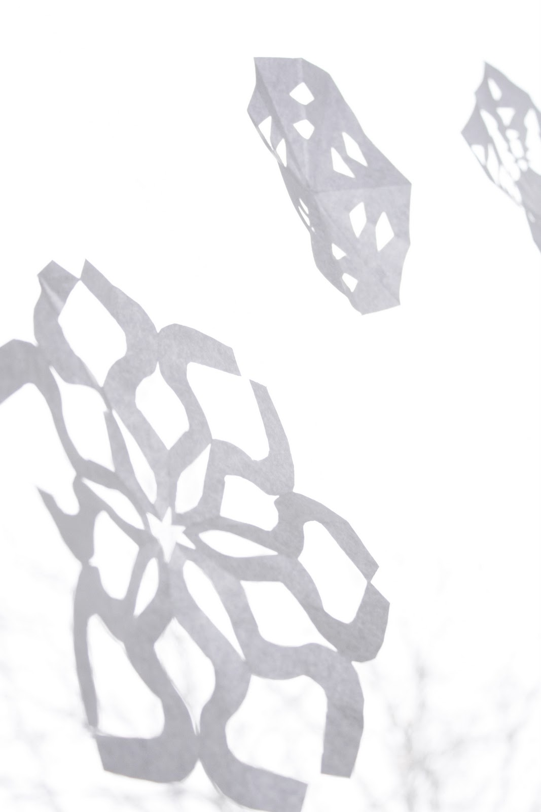 Six-Sided Paper Snowflakes