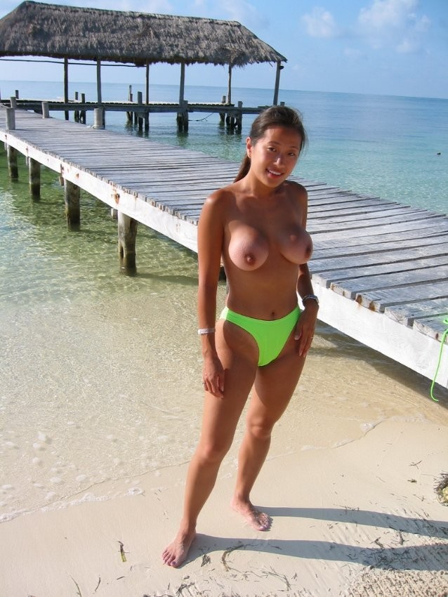 beach women Mature asian nude