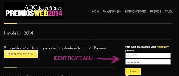 instrucciones premios Webs ABC de Sevilla