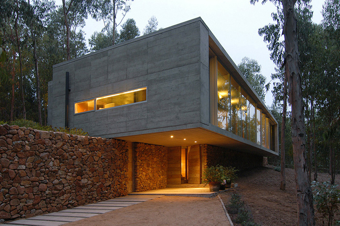 Casas minimalistas y modernas casa minimalista de hormigon for Casa moderna hormigon