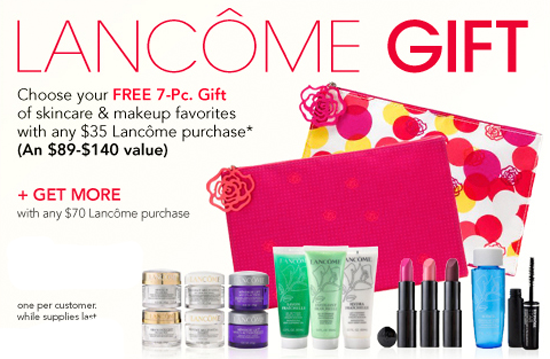 You all know that whenever I see a free gift for makeup, it is my job to share. I love the free gift, and if you happen to buy Lancome anyway, ...