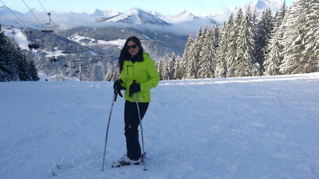 Esquiando en Los Alpes
