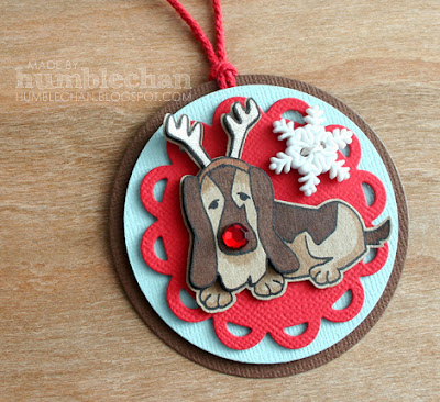 Basset Dog Holiday Tag by humblechan using Canine Christmas