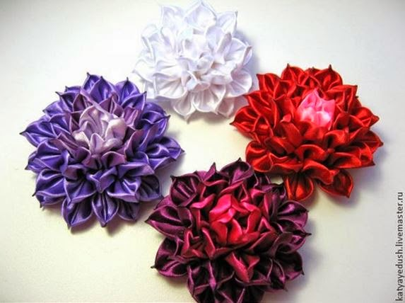 DIY Kanzashi Ribbon Flower The Idea King