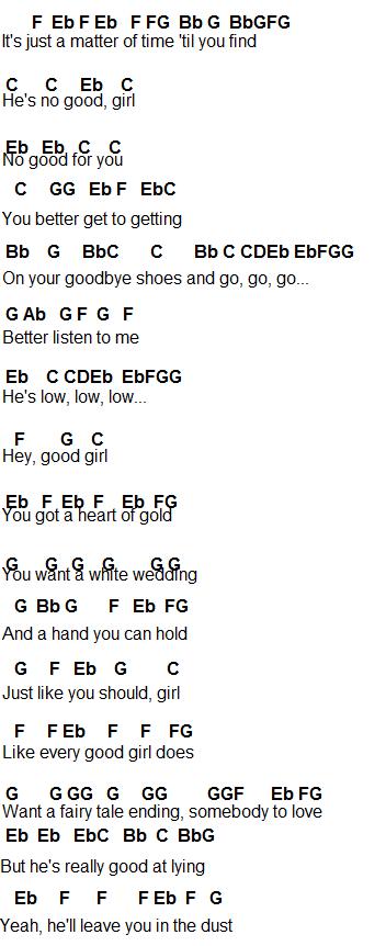 Flute Sheet Music: Good Girl