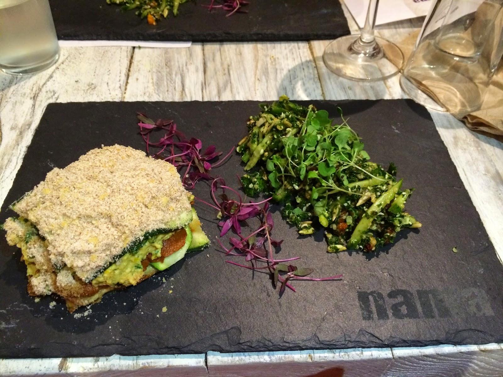 Lasagne Vendure vegan raw Nama restaurant