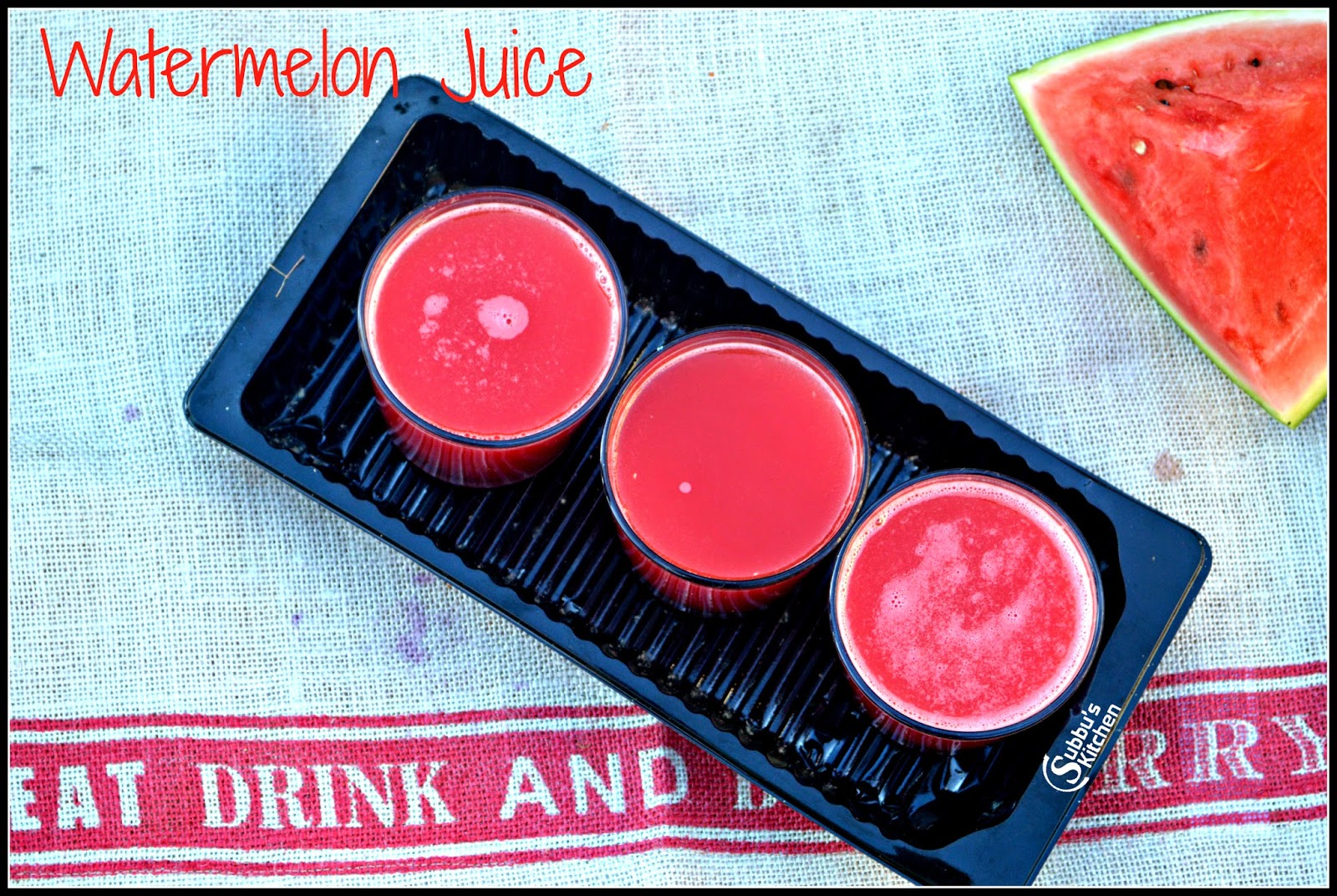 How to Prepare Watermelon Juice, Watermelon Juice
