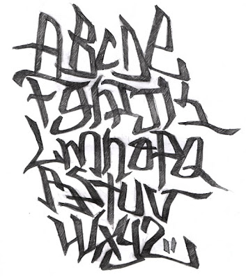 Tag Graffiti Alphabet