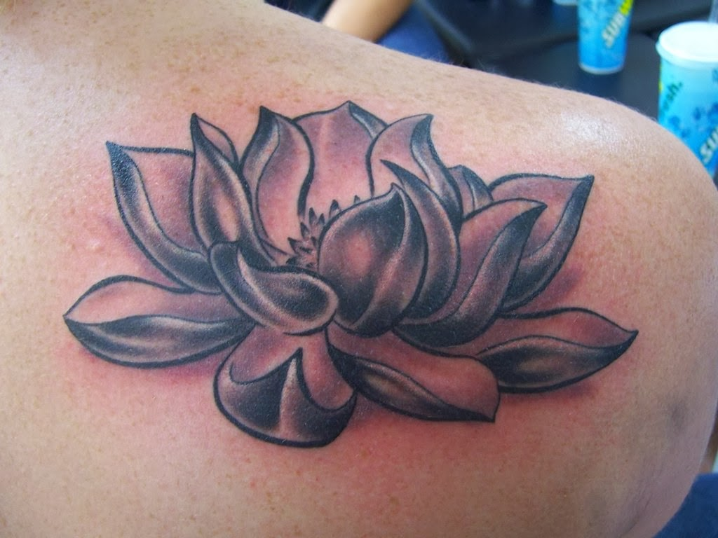 Tattoo gallery for men lotus tattoo design for men on arm for White lotus tattoo
