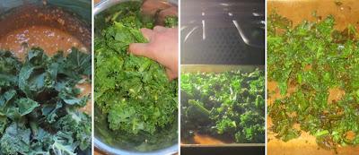 Zubereitung Grünkohl-Chips mit Cashewnüssen und Zitronengras