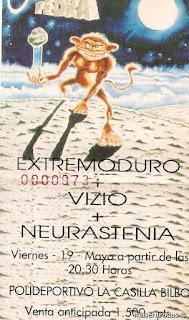 entrada de concierto de extremoduro