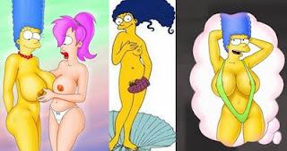 Marge Simpson A Peladona Da Capa Playboy De