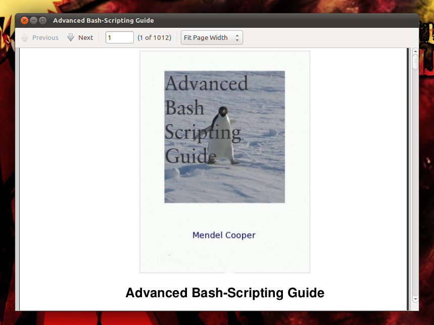 Ebook: Advanced Bash-Scripting Guide