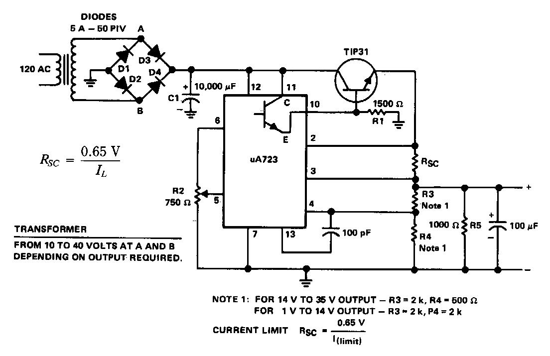 General Purpose Power Supply Circuit Diagram Electronic