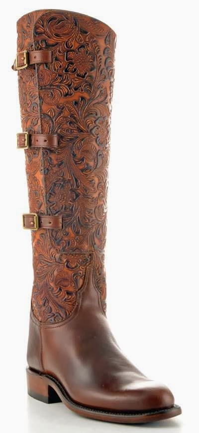 Amazing Pure Hard Leather Long Boot, Brown Long Boot