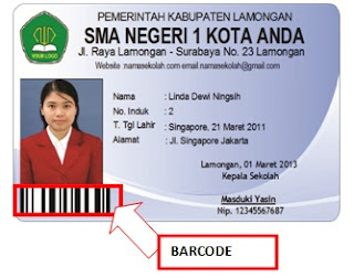BARCODE Simple Student Card Profesional