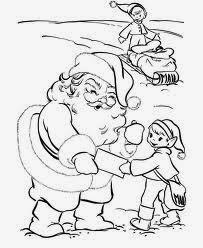 Santa Claus for Coloring, part 5