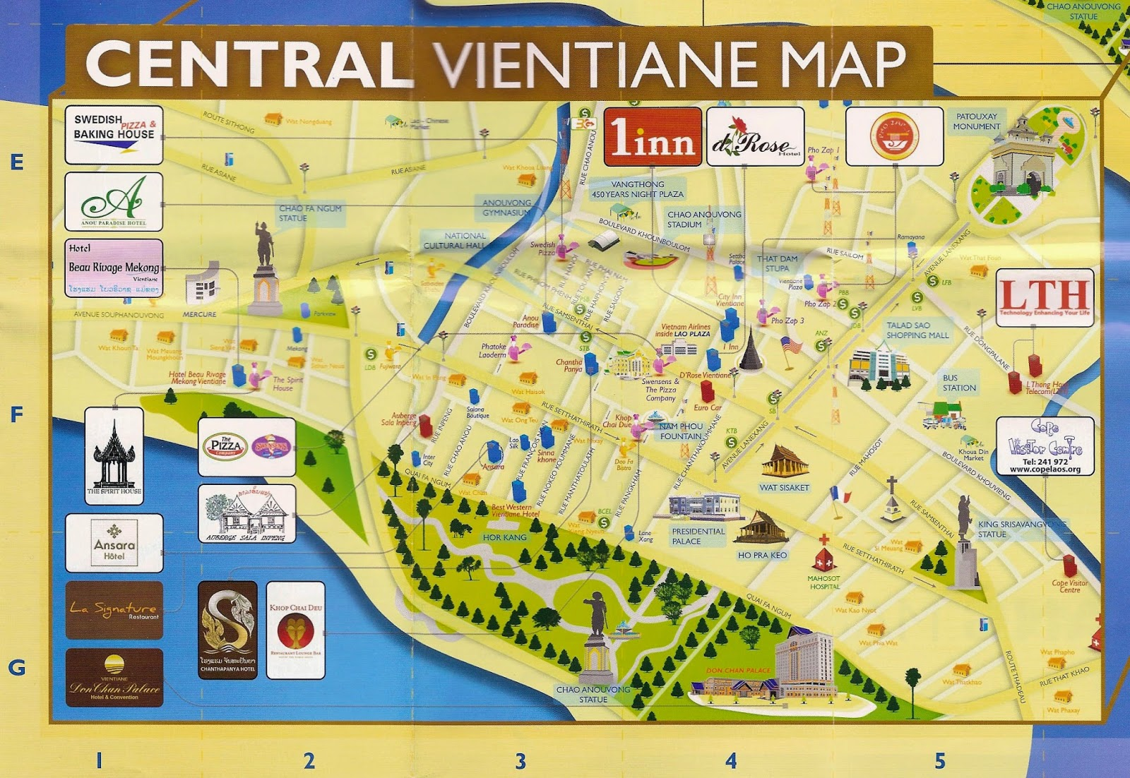 Things to do in Vientiane Laos – Tourist Map Laos