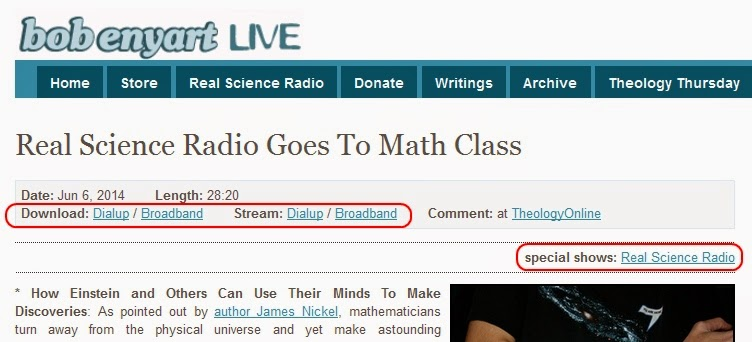 Real Science Radio, Bob Enyart, Mathematics