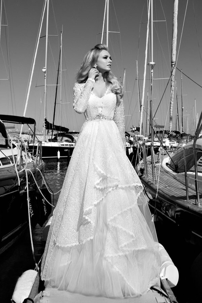 Bison bantaran galia lahav 2013 bridal collection the st for Wedding dresses for cruise ship