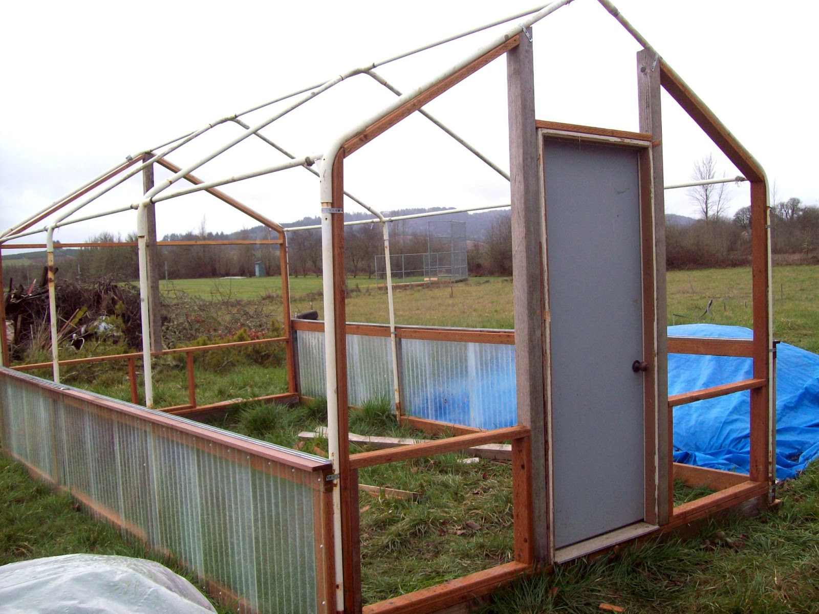 Carport greenhouse