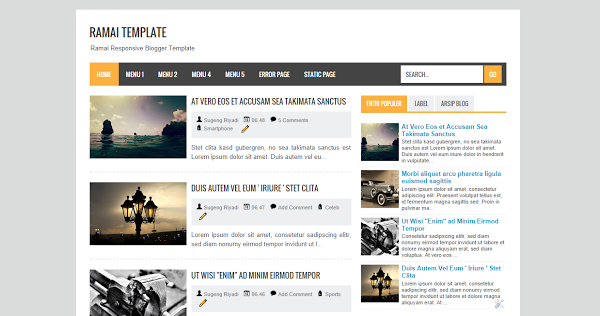 Download Template Ramai Responsive Blogger Template