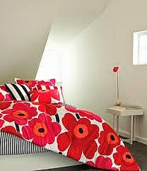 red poppies Marimekko duvet