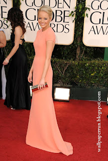 Emma Stone attends the 68th Annual Golden Globe Awards in Beverly Hills, CA on January 16, 2011