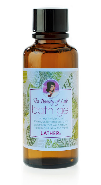Lather, Lather + The Beauty of Life Bath Gel, Lather Bath Gel, The Beauty of Life, bath gel, Lather Blending Bar, bubble bath