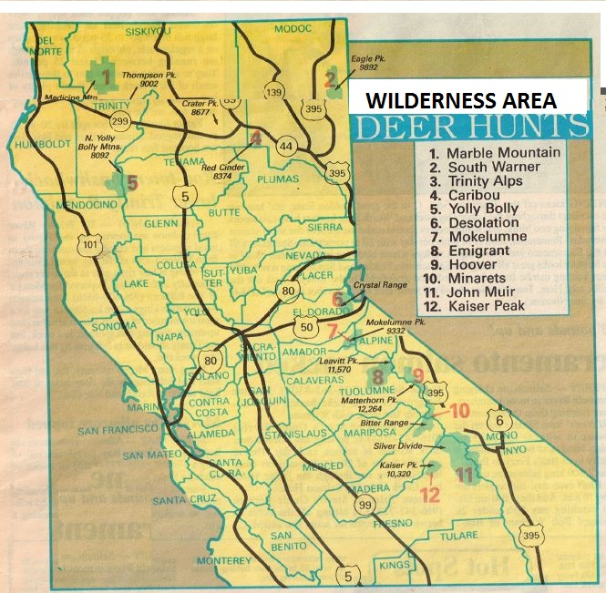 2017 High Sierra Deer Hunting Maps And California Hunting