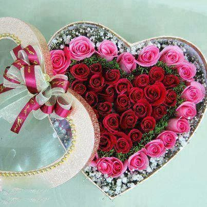 heart shape with flowers