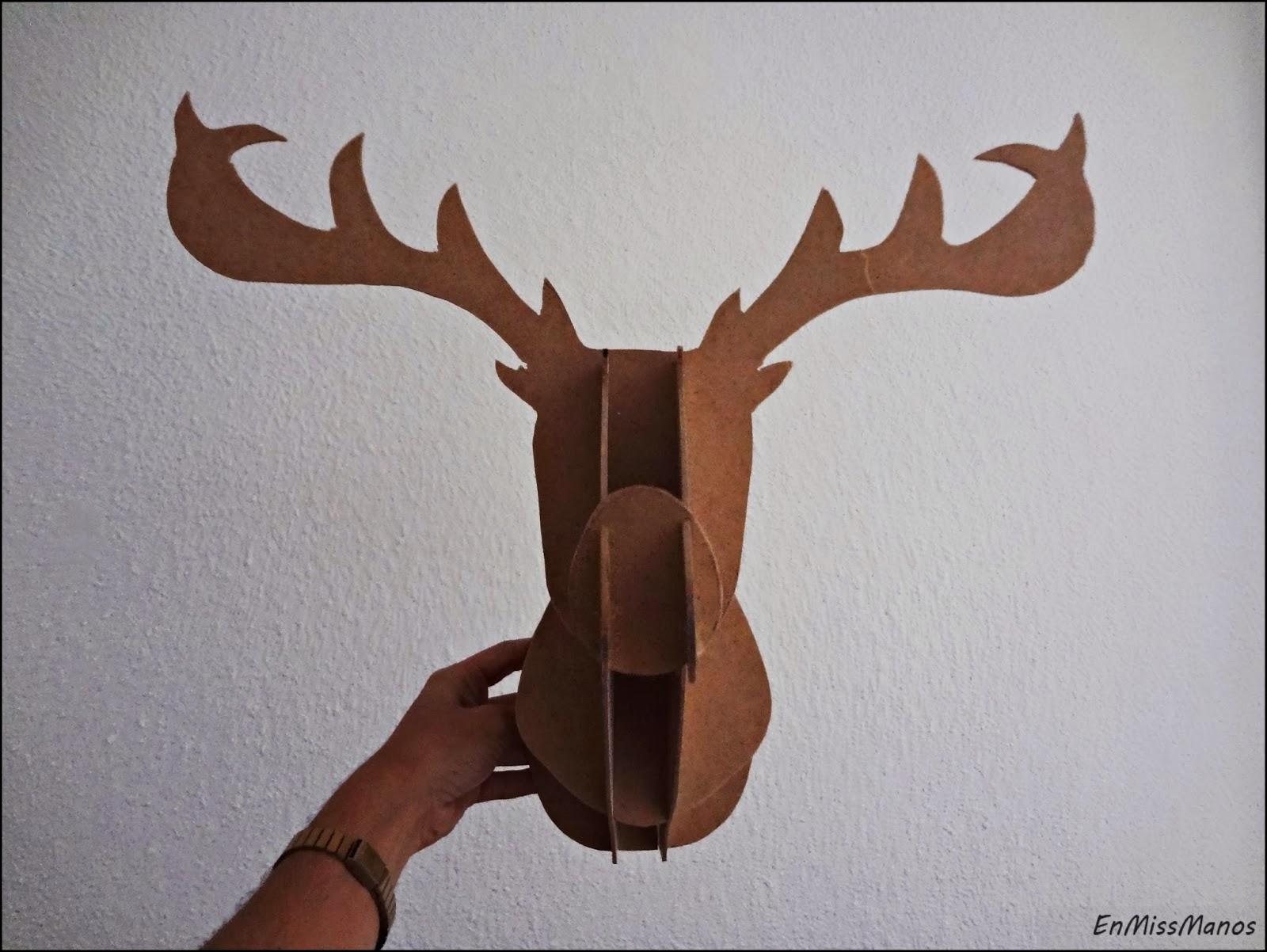 Ciervo de madera encajable | Manualidades