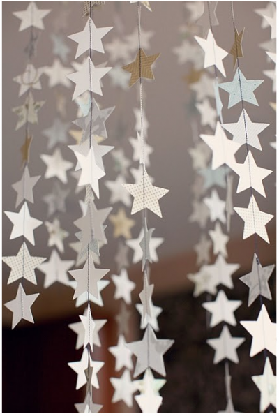 christmas hanging star decoration being scrappy