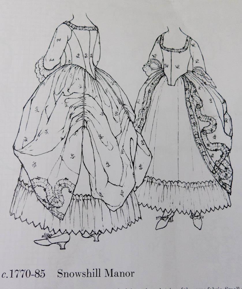 Robe A La Polonaise: V189: Beginning A Robe A L'Anglaise A La Polonaise