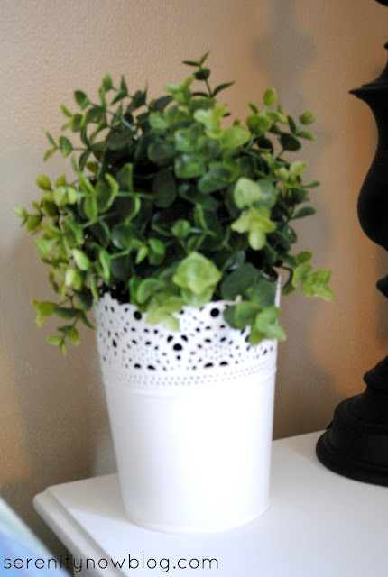 Faux Mini Boxwood from IKEA, via Serenity Now