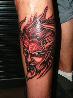 devil tattoos color